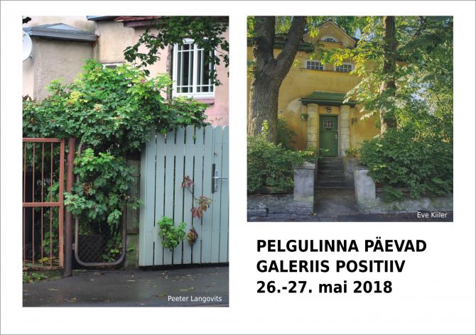 2018 Pelgulinna päevadel Eve Kiileri ja Peeter Langovitsi näitused galeriis Positiiv