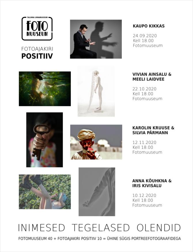 Fotomuuseum 40 ja Positiiv 10 kohtumisõhtute sari 24.09.-10.12.20